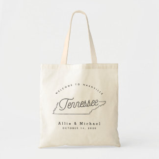 Tennessee Wedding Welcome Tote Bag
