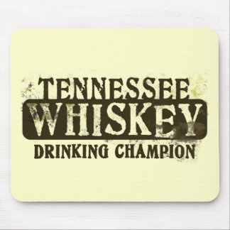 Tennessee Whiskey Drinking Champion Mouse Pads