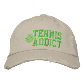 Tennis Addict Embroidered Hat