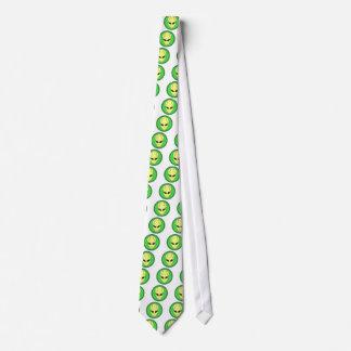 tennis alien head graphic tie