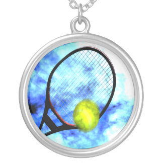 Tennis All Day Grunge Style Silver Plated Necklace