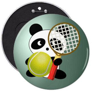 Tennis Anyone ? 6 Cm Round Badge
