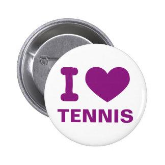 Tennis Pinback Buttons