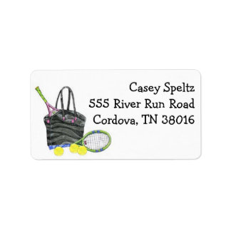 Tennis Bag Address Labels