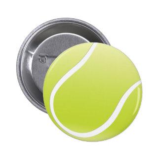 tennis ball 6 cm round badge