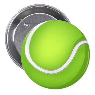 Tennis Ball 7.5 Cm Round Badge