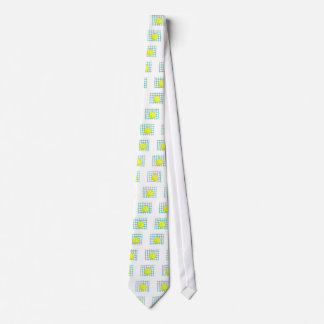 tennis ball and net simple graphic tie