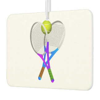 Tennis Ball and Rackets Car Air Freshener
