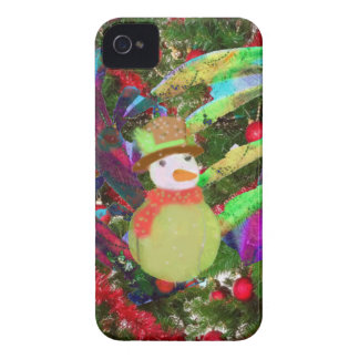 Tennis ball as ornament in Christmas tree iPhone 4 Case-Mate Case