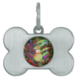 Tennis ball as ornament in Christmas tree Pet Name Tag