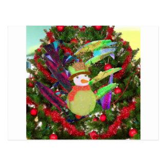 Tennis ball as ornament in Christmas tree Postcard