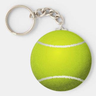 Tennis Ball Basic Round Button Key Ring