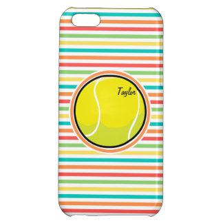 Tennis Ball Bright Rainbow Stripes iPhone 5C Covers