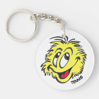Tennis Ball Cartoon Circle Keychain