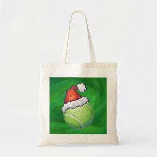 Tennis Ball Christmas Green Tote Bag