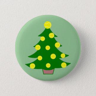 Tennis Ball Christmas Tree 6 Cm Round Badge