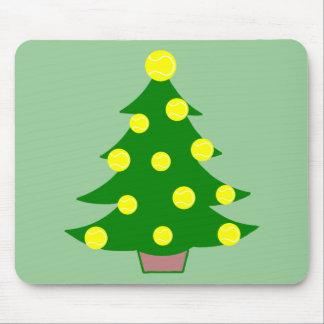 Tennis Ball Christmas Tree Mouse Pads