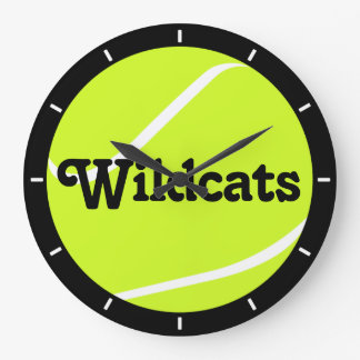 Tennis Ball Custom Team Name Wall Clock