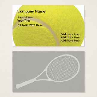 Tennis Ball Design Business Card