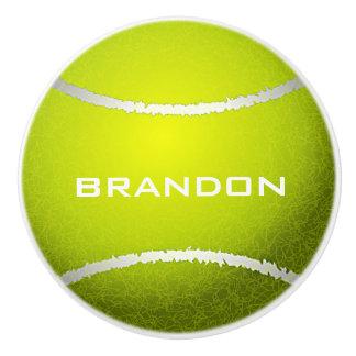 Tennis Ball Design Ceramic Pull or Knob