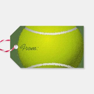 Tennis Ball Design Gift Tag