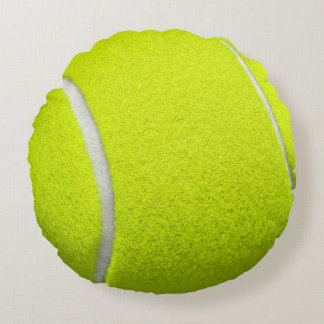 Tennis Ball Funny Look Round Cushion
