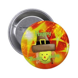 Tennis ball in Thanksgiving season 6 Cm Round Badge