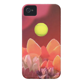 Tennis ball in Wild flower iPhone 4 Case