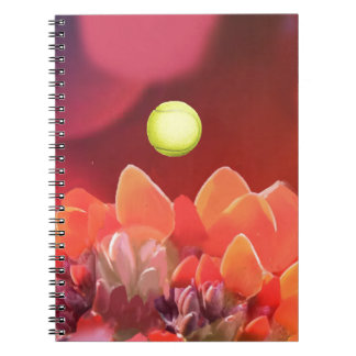 Tennis ball in Wild flower Notebooks