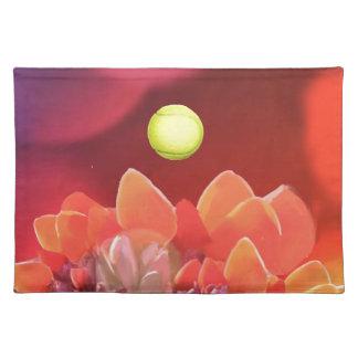 Tennis ball in Wild flower Placemat