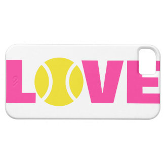 Tennis ball iPhone 5 case. Cover with LOVE slogan