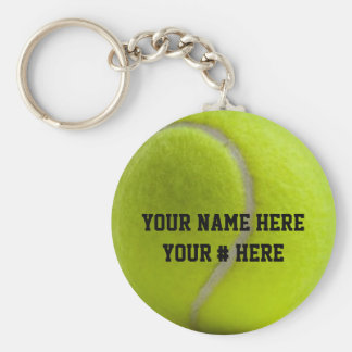 Tennis Ball Keychain Personalize YOUR NAME ID Tag