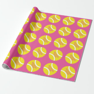 Tennis ball kids Birthday party wrapping paper