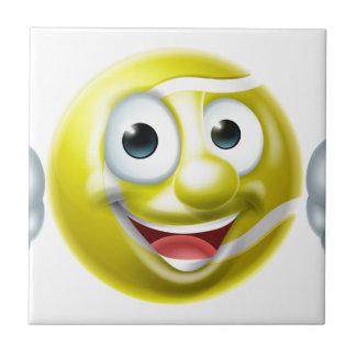 Tennis Ball Man Cartoon Character Tile