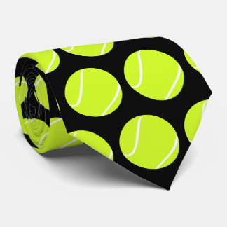 Tennis Ball Neck Tie for Tennis Players or Coaches