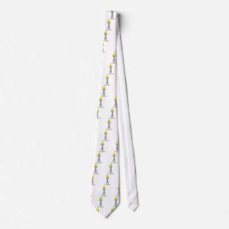 tennis ball on a pedestal art tie
