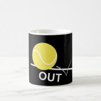 Tennis ball 'OUT' Mug