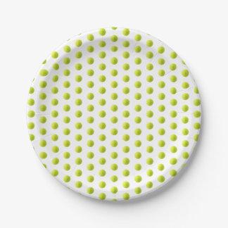 Tennis Ball Paper Plate