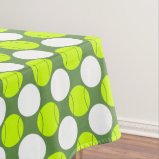 Tennis Ball Polka Dot Pattern Tablecloth