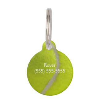 Tennis Ball Print Pattern Background Pet Tag