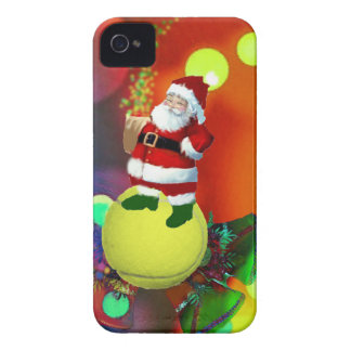 Tennis ball Santa and bells. iPhone 4 Case-Mate Cases