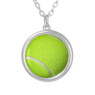 Tennis Ball Silver Plated Necklace