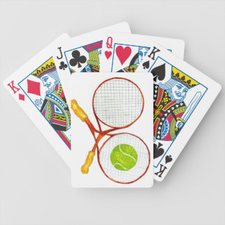 Tennis Ball Sketch2 Bicycle Playing Cards