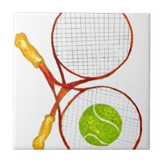 Tennis Ball Sketch2 Ceramic Tile