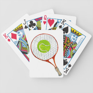 Tennis Ball Sketch3 Bicycle Playing Cards