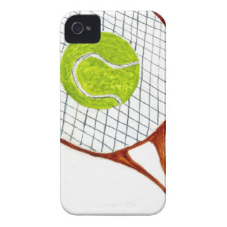 Tennis Ball Sketch3 iPhone 4 Covers