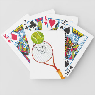 Tennis Ball Sketch Bicycle Playing Cards