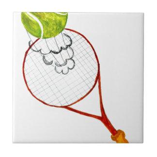 Tennis Ball Sketch Ceramic Tile