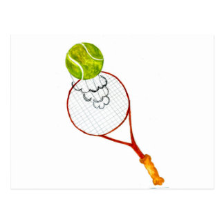 Tennis Ball Sketch Postcard