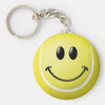 Tennis Ball Smiley Face Keychain